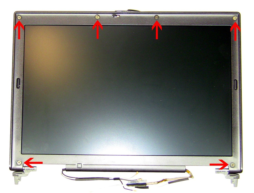 Remove Dell Latitude D620 / D630 Hinges -4