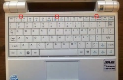 Replace Asus EEE PC 900 Keyboard-1