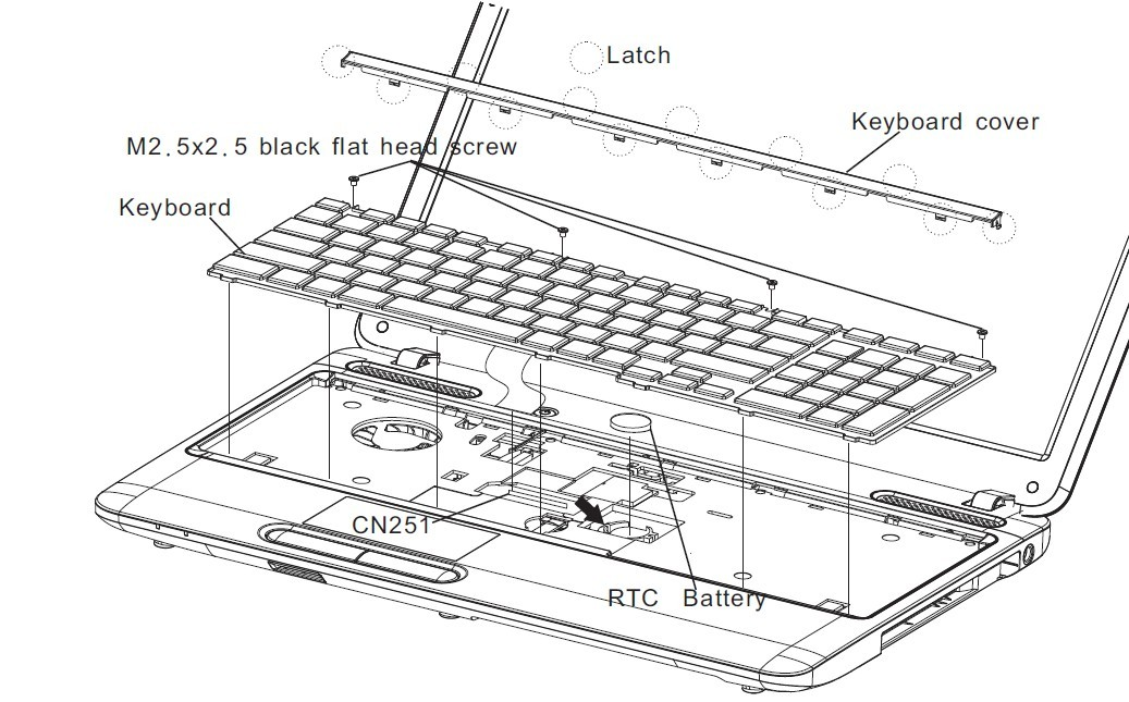replace toshiba satellite c650 c655 l650 l655 keyboard