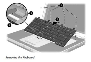 Replace HP Compaq Presario M2000 R3000 Keyboard-3